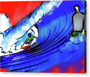 Lukey Backside Barrel - Canvas Print