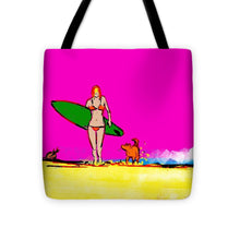 Single Fin Girl - Tote Bag