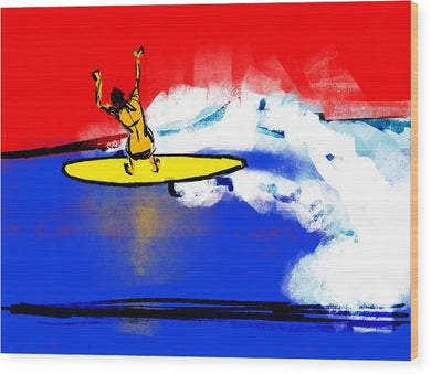 Surfer Girl - Wood Print