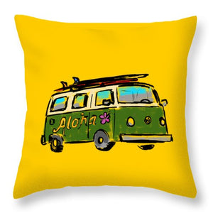 Vw Surf Bus - Throw Pillow