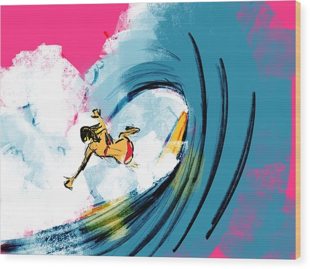Wipe Out - Wood Print