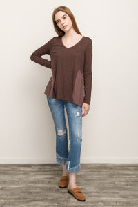 Long Sleeved Two Tone Top