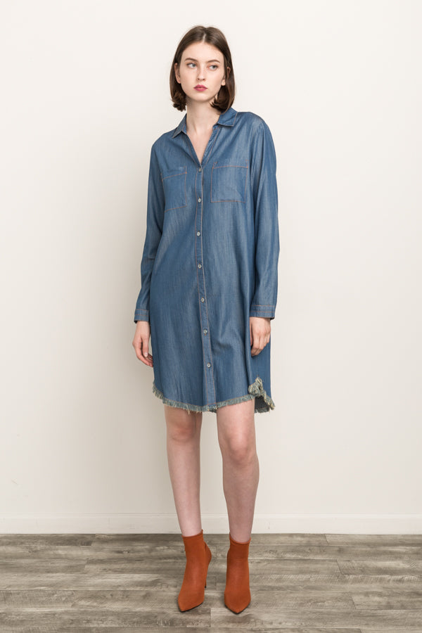 Take Me Away, Chambray! Dress (Just One Left!)
