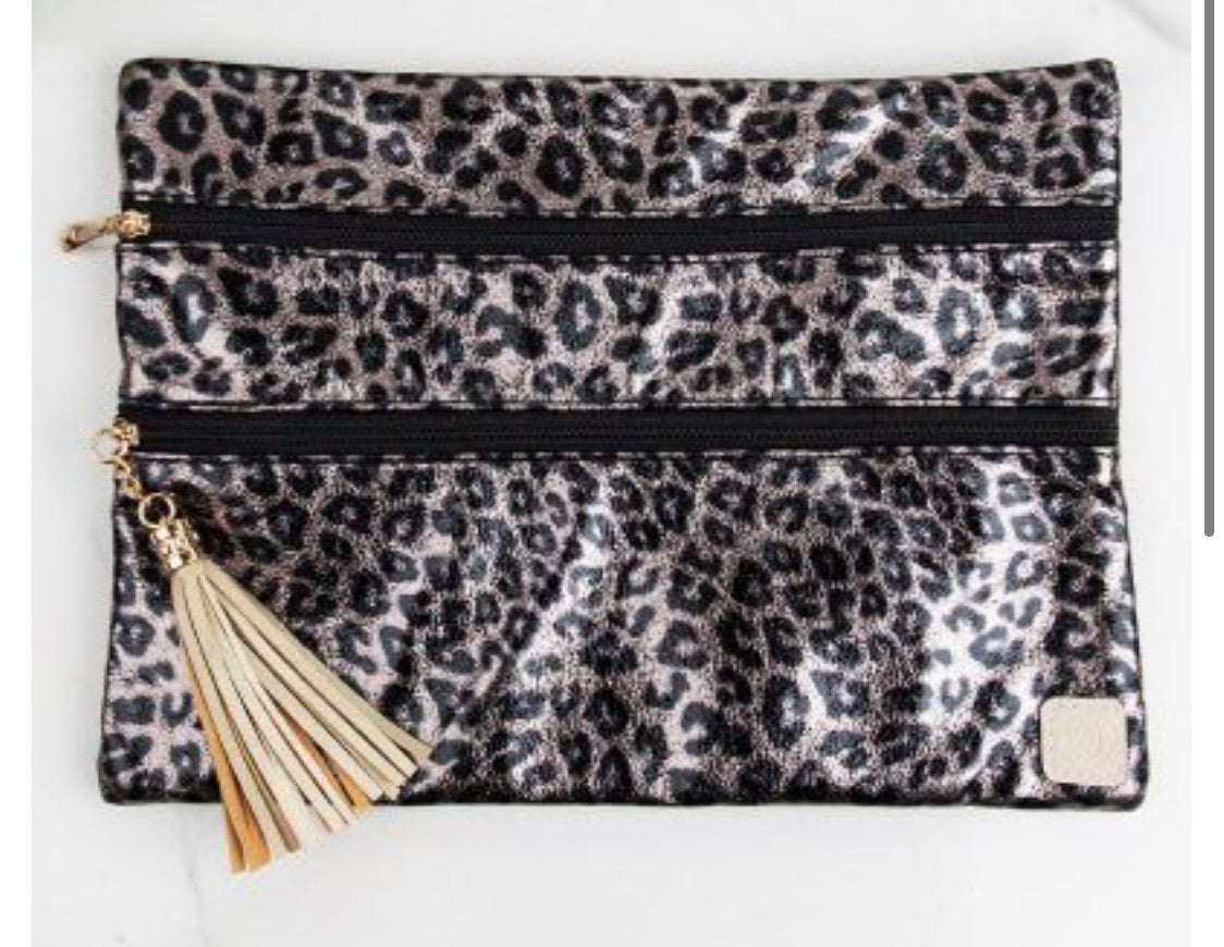 Metallic Leopard Versi Bag