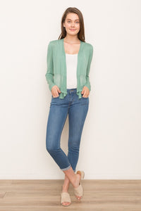 Tie Front Cropped Cardigan