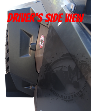 Short Mud Flaps for Polaris Double XL Fenders