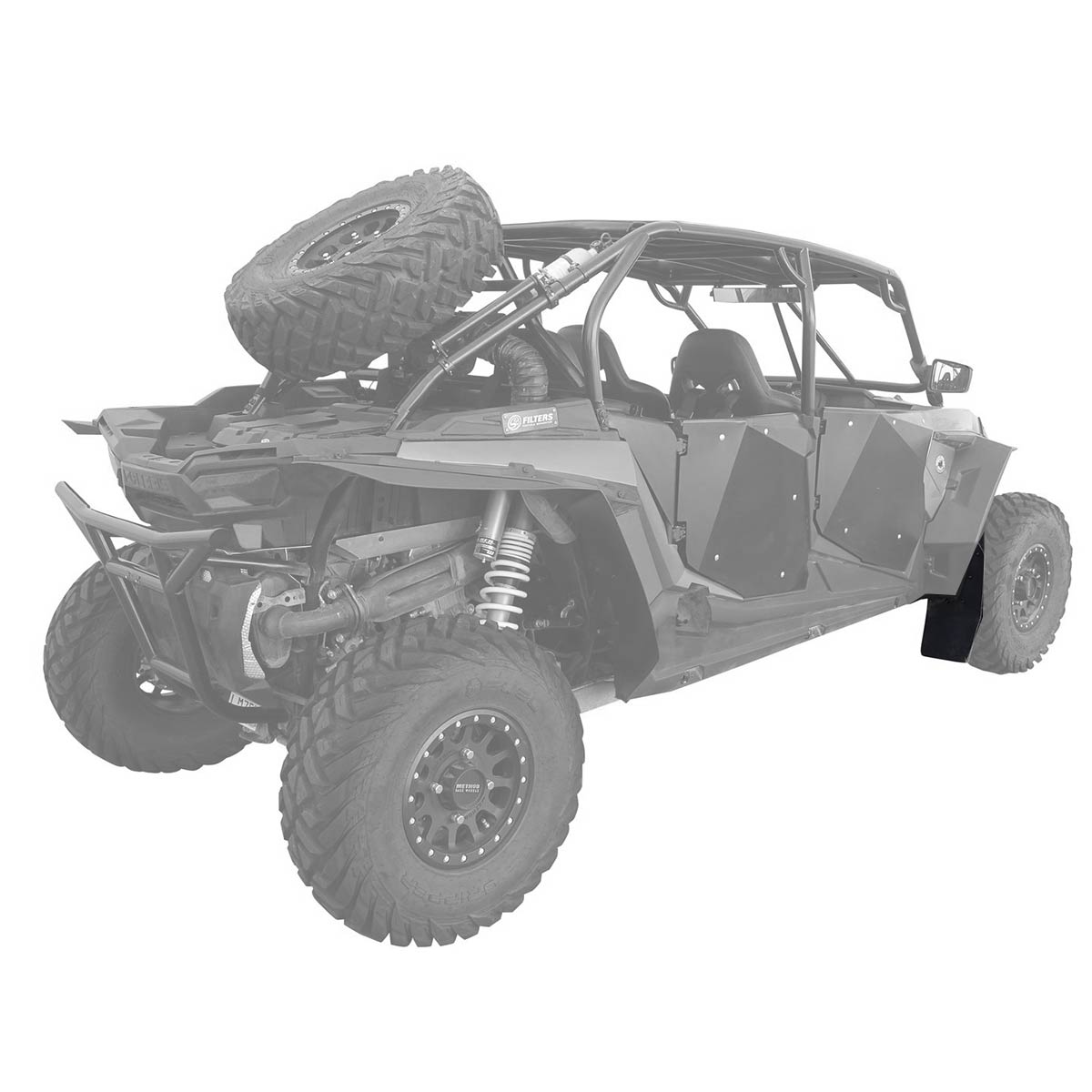 MudBusters Large Mud Flaps for Polaris Double XL XXL Fenders RZR XP 1000 Turbo