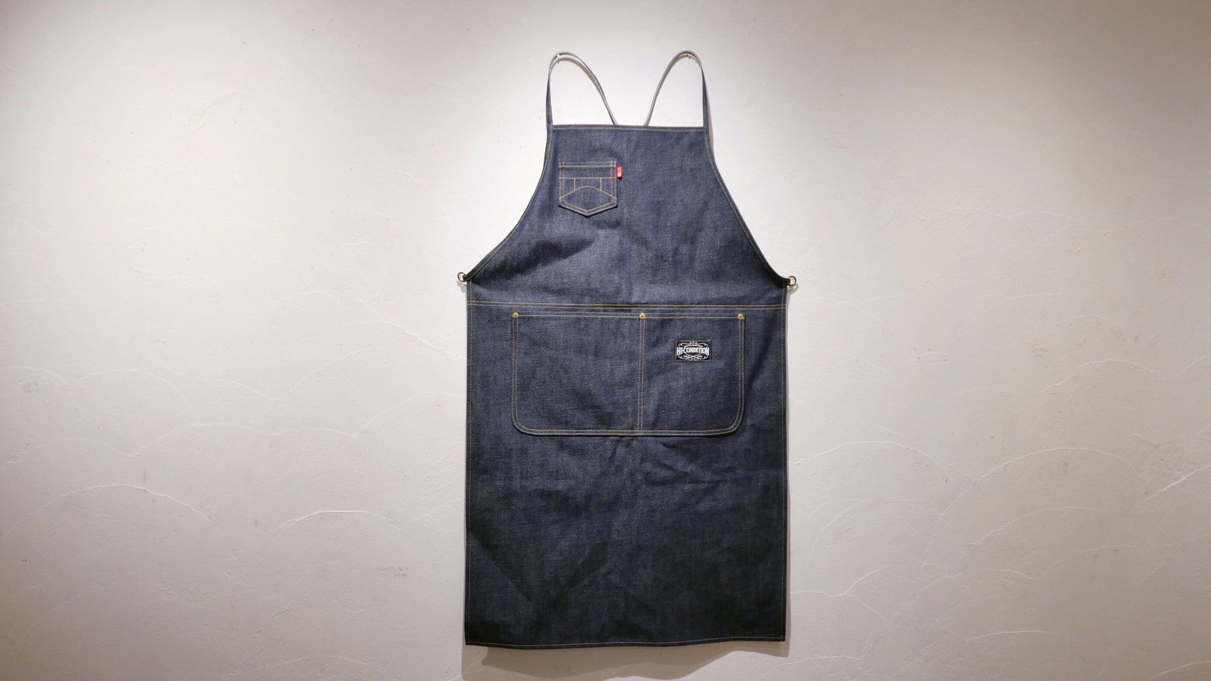 Hi-Condition Selvage Denim Apron X Shoulder | HITOHIRA