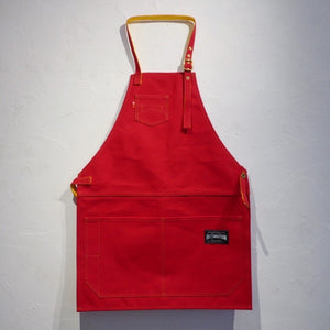 HI-CONDITION Japanese Canvas Apron Red x Sunflower Large | HITOHIRA