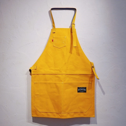 HI-CONDITION Japanese Canvas Apron Yellow x Navy Large - HITOHIRA