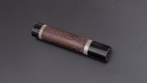 Taihei Rosewood Oval Handle for Gyuto 210mm (Double Buffalo Horn) | HITOHIRA