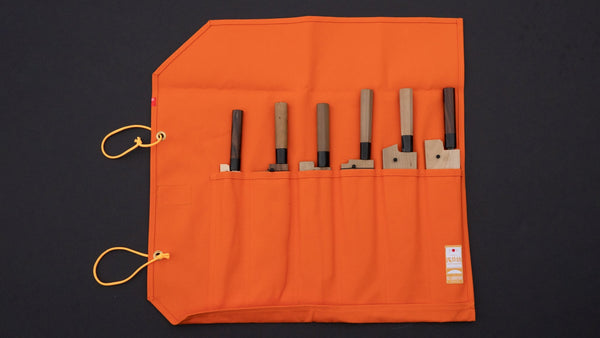 Hi-Condition Hanpu Canvas 6 Pockets Knife Roll Orange | HITOHIRA