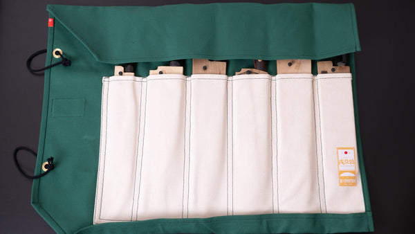 Hi-Condition Hanpu Canvas 6 Pockets Knife Roll (STAY SHARP Edition) | HITOHIRA