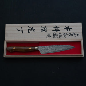 Tsubaya Shigeki R2 Petty 130mm Ironwood Handle | HITOHIRA