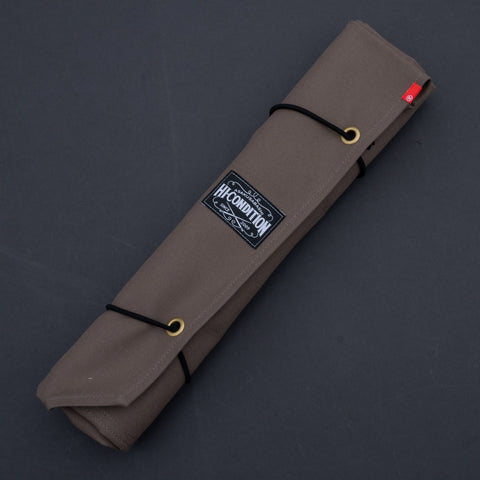 Hi-Condition Hanpu Canvas 6 Pockets Knife Roll Dark Gray | HITOHIRA