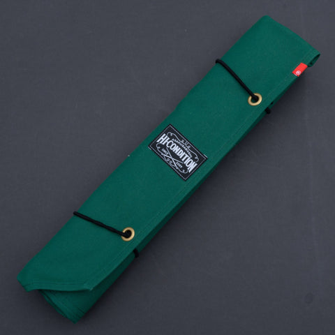 Hi-Condition Hanpu Canvas 6 Pockets Knife Roll Mid Green | HITOHIRA