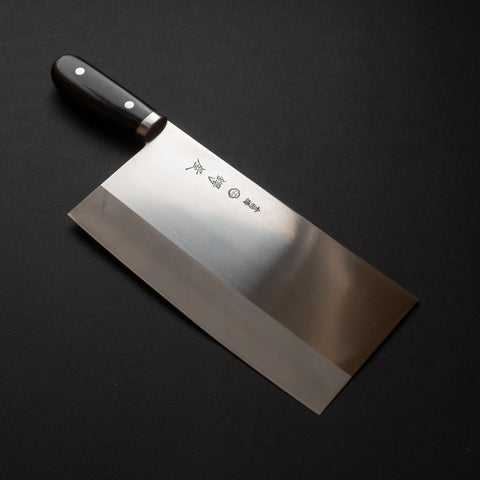 Tsubaya Stainless Chinese Cleaver 220mm Pakka Handle | HITOHIRA