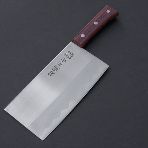 Motohiro Bessaku Stainless Chinese Cleaver 170mm Rosewood Handle (NOS) | HITOHIRA