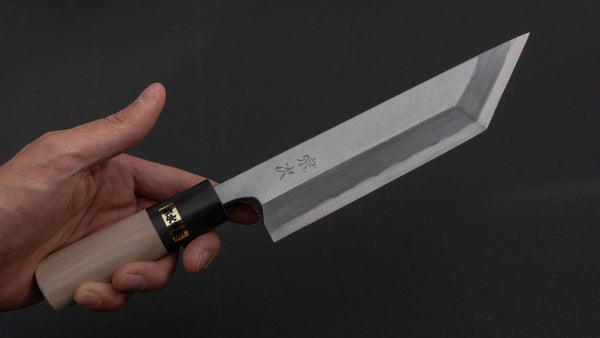 Morihei Munetsugu White #2 Edo Saki 180mm Ho Wood Handle | HITOHIRA