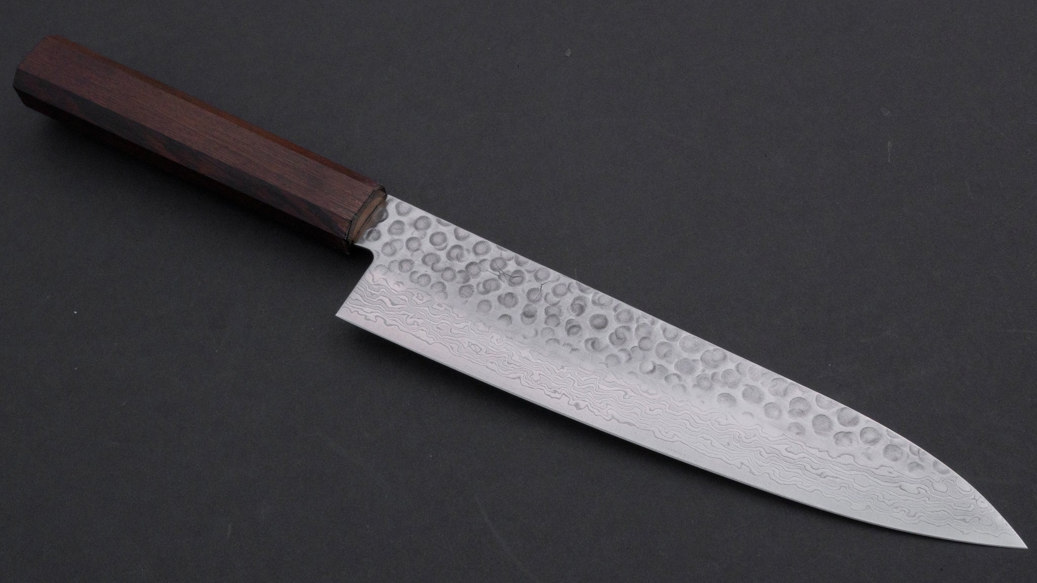Hitohira HG Tsuchime Damascus Gyuto 210mm Wenge Handle