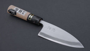 Morihei Munetsugu White #2 Deba 105mm Ho Wood Handle (Fine Finish)