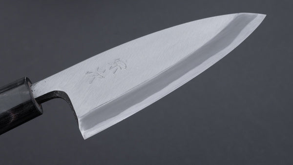 Morihei Munetsugu White #2 Deba 105mm Ho Wood Handle (Fine Finish) | HITOHIRA