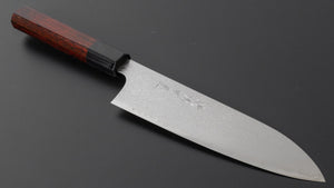 Hitohira Imojiya TH Damascus Santoku 180mm Pakka Handle (Red) | HITOHIRA