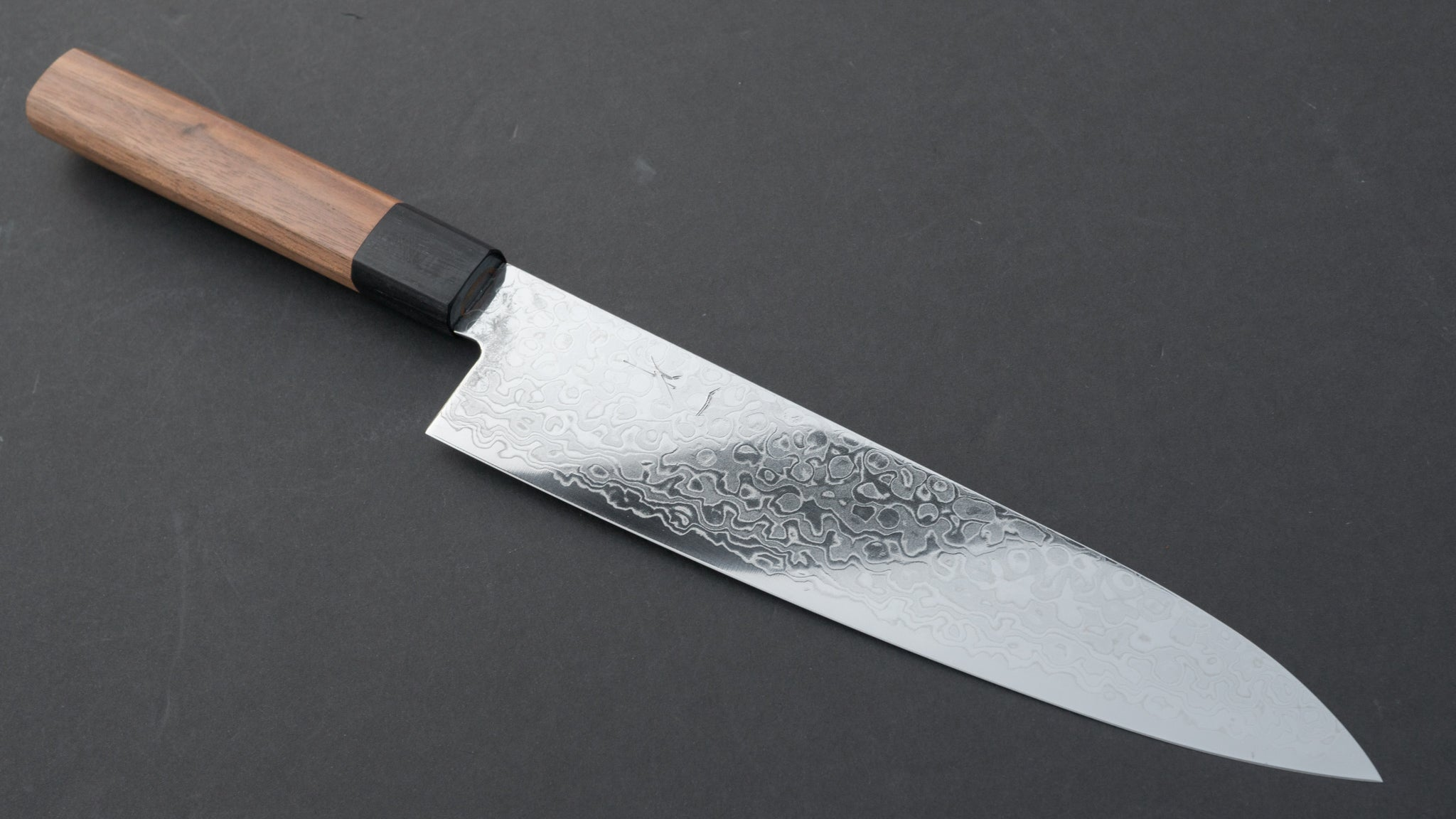 Hitohira HG Damascus Gyuto 210mm Walnut Handle | HITOHIRA