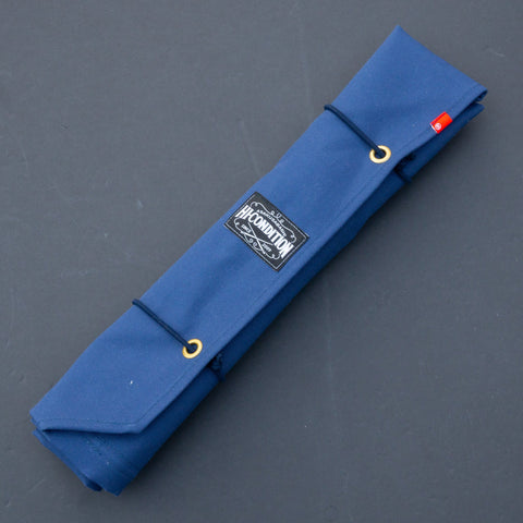 Hi-Condition Hanpu Canvas 6 Pockets Knife Roll Navy & Deep Brick-Red