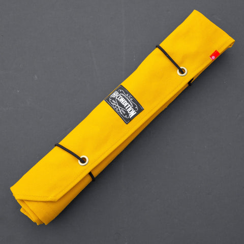 Hi-Condition Hanpu Canvas 6 Pockets Knife Roll Mustard