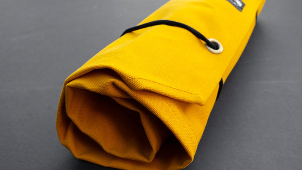 Hi-Condition Hanpu Canvas 6 Pockets Knife Roll Mustard | HITOHIRA