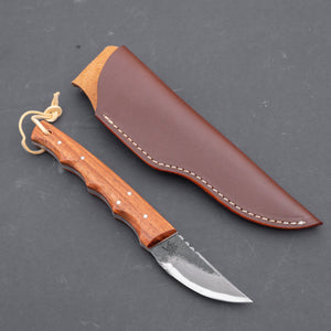 Fukuta Blue #2 Hunting Fixed Blade 60mm Rosewood Handle | HITOHIRA