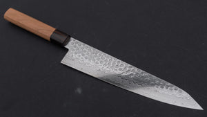 Hitohira HG Tsuchime Damascus Kiritsuke Gyuto 240mm Cherry Wood Handle (Discounted/ Limited/ Saya) | HITOHIRA