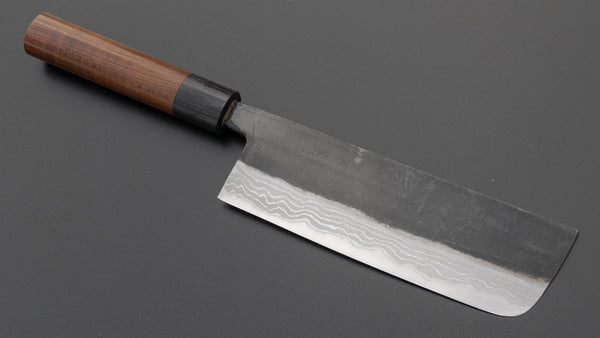 Hitohira HS White #2 Damascus Nakiri 165mm Maple Handle | HITOHIRA