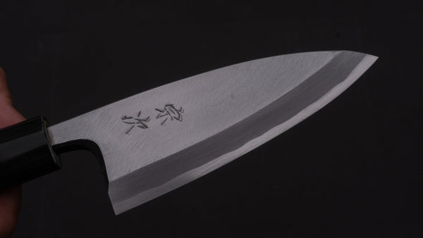 Morihei Munetsugu White #2 Deba 105mm Ho Wood Handle | HITOHIRA