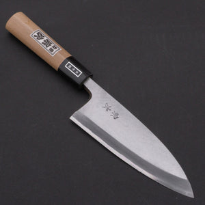 Morihei Munetsugu White #2 Deba 150mm Ho Wood Handle | HITOHIRA