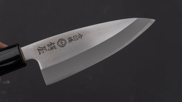 Tsubaya Stainless Deba 105mm Ho Wood Handle | HITOHIRA