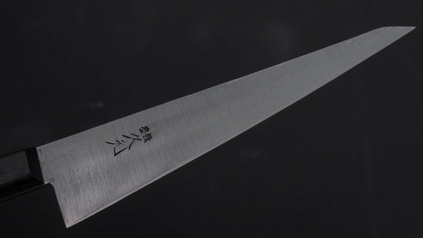 Morihei Hisamoto Vintage Blue Steel Honesuki Kaku 140mm Pakka Handle (Thin) | HITOHIRA