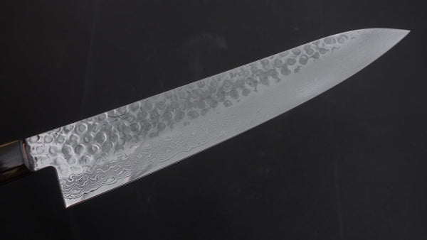 Hitohira HG Tsuchime Damascus Gyuto 240mm Cherry Wood Handle | HITOHIRA