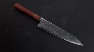 Hitohira HG Damascus Gyuto 210mm Satine Handle | HITOHIRA