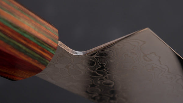 Hitohira HG Damascus Gyuto 210mm Satine Handle (Rainbow) | HITOHIRA
