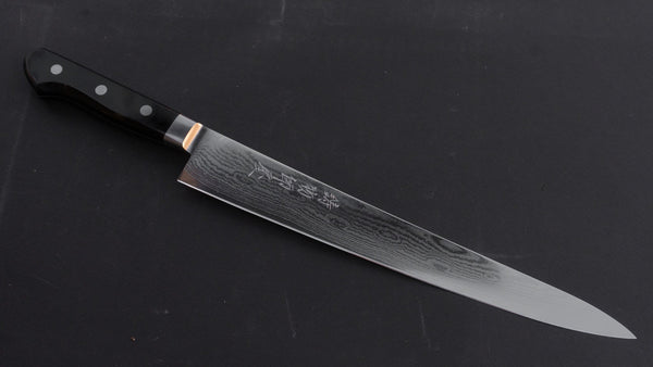 Hitohira Imojiya Kuma 33 layers Damascus VG10 Sujihiki 270mm Pakka Handle | HITOHIRA