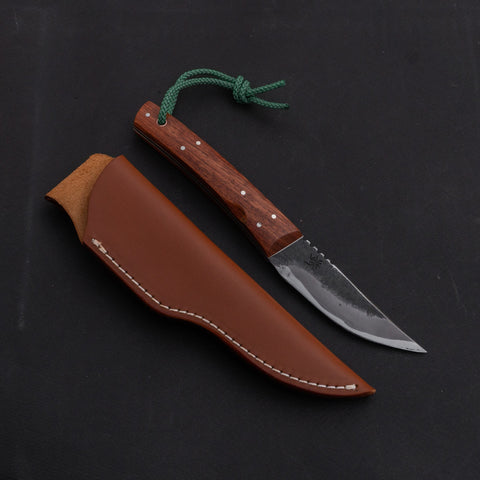 Fukuta Blue #2 Hunting Fixed Blade 90mm Rosewood Handle | HITOHIRA