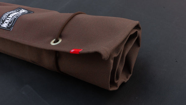 Hi-Condition Hanpu Canvas 6 Pockets Knife Roll Brown | HITOHIRA