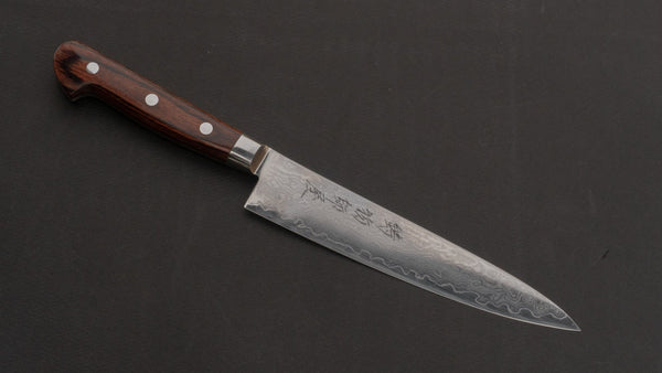 Hitohira Imojiya ST Damascus Petty 150mm Imitation Mahogany Handle | HITOHIRA