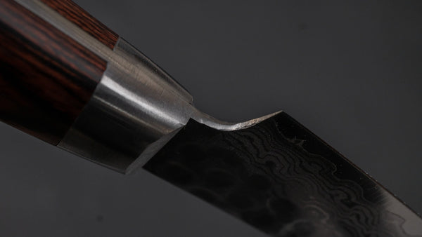 Hitohira HG Tsuchime Damascus Paring 85mm Imitation Mahogany Handle | HITOHIRA