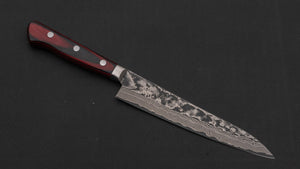 Hitohira VG-10 Nickel Damascus Petty 150mm Pakka Handle | HITOHIRA