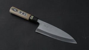 Morihei Munetsugu White #2 Deba 165mm Ho Wood Handle (Fine Finish) | HITOHIRA