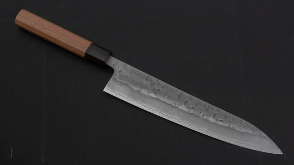 Hitohira Futana S3 Nashiji Gyuto 240mm Cherry Wood Handle | HITOHIRA