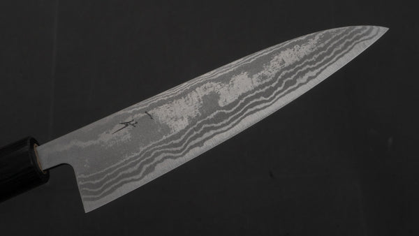 Hitohira GR Blue #2 Damascus Petty 135mm Rosewood Handle | HITOHIRA